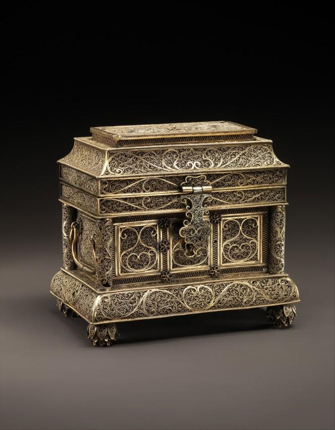 A Metal Filigree Box from Goa, 17th century, Metropolitan Museum of Art.