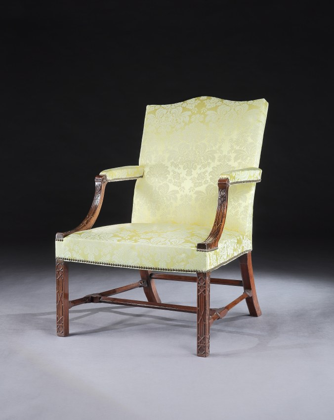 A George III Mahogany Chippendale Period Armchair Mackinnon Fine Furniture Collection